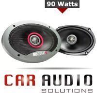Mb Quart 4 X 6 Car speakers Formula Series 2-Way Coaxial 90 Watt 6x4 With Grills