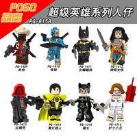 Bausteine Spielzeug Figur Deadpool Deathstroke Catwoman Modell Kinder DIY 8PC