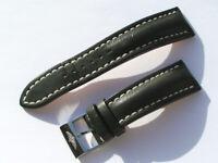 24mm Breitling Band 441X 24/20 Kalb schwarz black Strap mit Dornschliesse 049-24