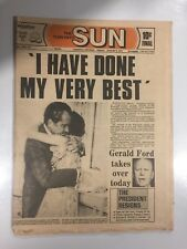 Toronto Sun Newspaper - August 9th 1972 – Nixon Resigns