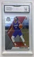 Terrance Mann 2019-20 Mosaic Base Prizm #246 Rookie Card LA Clippers GMA 10 Mint