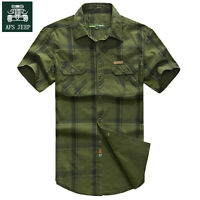 Brand New Men Fashion Short Sleeve Cotton Casual Slim Fit Shirts