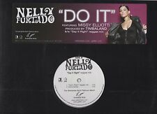 Nelly Furtado Say it Right Do it Missy Elliott Promo Vinyl LP Buttons & Sticker