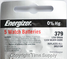 5 pcs 379 Energizer Watch Batteries SR521SW SR521 0%HG
