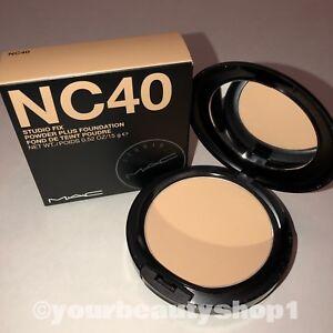 New MAC Studio Fix Powder Plus Foundation NC40 100% Authentic