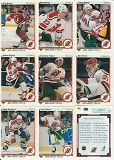 NEW JERSEY DEVILS Complete Team Set Hockey NHL 21 cards1990 UPPER DECK Free Ship