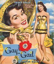 VINTG UNCUT 1950S GAY & GAIL PAPER DOLL LASER REPRODUCTION~LO PR~NO. 1 FREE S&H