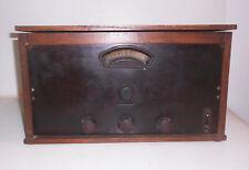 Old Tube Radio Well Self Made RFT Tele Radio Valvo Vintage Decoration Wood Radio