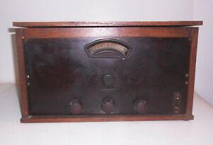 Altes Röhrenradio wohl Eigenbau RFT Telefunken Valvo Vintage Deko Holz Radio !