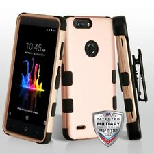 ROSE GOLD BLACK CASE +CLIP /STAND+SCREEN FILM FOR ZTE Blade Z Max Z982