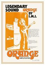 ORANGE  **LARGE POSTER** Vintage Tube Amp Promo AD Valve Guitar Amplifier Matamp