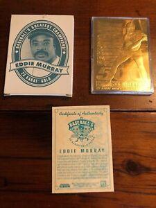Eddie Murray 1996 Bleachers 23 Karat Gold Greatest Champions 500 Home Run Card
