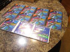 LOTE of 9 TDK cd.r 650MB 74min Toda Velocidad recodable para ordenador writers
