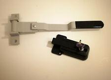 Silver Grey Swivel Cam Bar Trailer Latch Handle Door Cambar Cargo W/ Black Lock