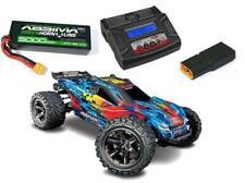 Traxxas Rustler Combo 1/10 4WD Stadium Truck Brushless 4x4 VXL blau RTR incl Akk