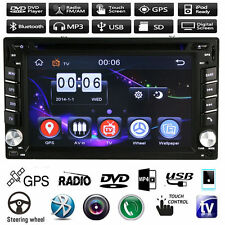 "6.2"" 2 Din Touch Car Radio Stereo DVD MP5 Ipod USB/TV Player GPS Nav TouchScreen"