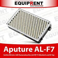 Aputure AL-F7 ultra helle BiColor LED Kameraleuchte mit Akkuanschluss (EQM43)