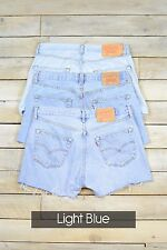 GRADE B LEVIS VINTAGE WOMENS HIGH WAISTED DENIM SHORTS SIZE 6 8 10 12 14 16 18