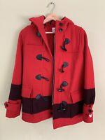 Hudson Bay Red Wool Duffle Jacket Canada Olympics XS Blanket Coat