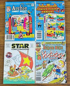 LOT 4 1980s COMIC DIGEST BOOKS ARCHIE RICHIE RICH JOKEBOOK STAR COMICS MAGAZINE