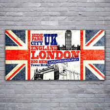 Glasbilder Wandbild Druck auf Glas 120x60 London Flagge Kunst