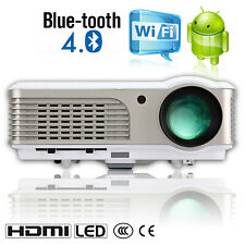 HD LCD LED Wifi Android Projector for Home Cinema 1080p Movie Game HDMI USB VGA