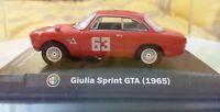 Modellino Giulia Sprint GTA 1965 4 ORE di Monza 1966 Andrea De Adamich TECA 1/43