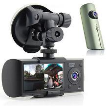 "HD Dual Camera Driving Recorder 2.7"" LCD Dash-Cam Car DVR w/ GPS Logger G-Sensor"