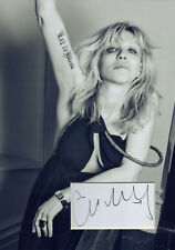 COURTNEY LOVE Signed 12x8 Photo Display HOLE Kurt Cobain COA