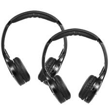 2×Wireless Infrared IR Stereo Headphones 2 CH Universal For In Car Headrest DVD