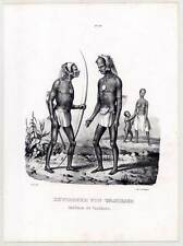 Vanikoro-Vanikolo-Salomon-îles - Pacifique-ETHNOLOGIE-Lithographie-Honegger 1840