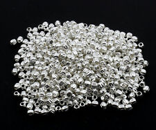 100 Silver Pumpkin 3mm Spacer Beads For Jewellery Making BUY 3 FOR 2
