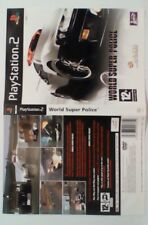 *INLAY ONLY* World Super Police Inlay PS2 PSTwo Playstation 2 Two