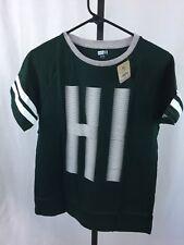 "Crazy 8 Boys Xl 14 Green Short Sleeve T Shirt Words ""hi"" Nwt"