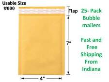 New Listing25 Pack 4x7 Kraft Bubble Mailers Free Shipping From Indiana