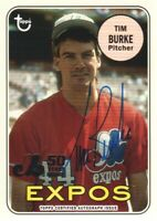 2019 Topps Archives 50th Anniversary Montreal Expos AUTO #MTLA-TB Tim Burke