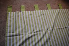 "TADPOLES BASIC Apple Green Striped Curtains Drapes ~ 4 Panels 2 windows 41""x61"""