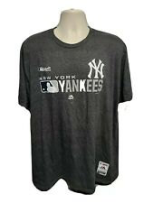 Authentic Majestic New York Yankees Adult Gray 2XL TShirt