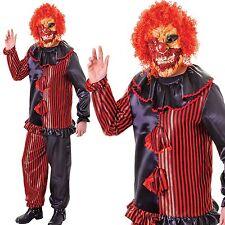 Adulto Spaventosa Zombie Clown Costume Da Halloween Circo Horror con/ Mascherina