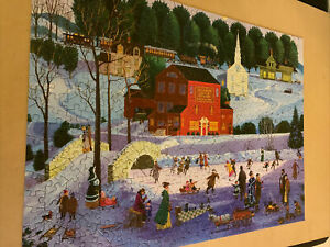 Jigsaw Puzzle 500 Pieces: Vintage Winter Scene: Complete: Bits And Pieces
