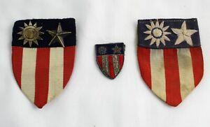 Three Vintage CBI China Burma India Theater WWII Military Patches