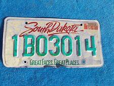 Vintage Original SOUTH DAKOTA 1B03014 License VEHICLE Tag Man Cave Reissue