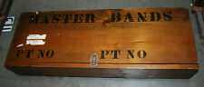"VINTAGE 33"" MILITARY STORAGE WOODEN BOX PRINTED WITH ""MASTER BANDS"""