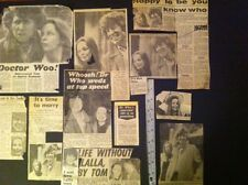 Dr Who Press Clippings LOT-newspaper Article 1980s TOM BAKER MARRIES LALLA WARD
