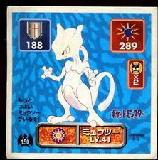 POKEMON STICKER Carte JAPANESE 50X50 1996 NORMAL N° 150 MEWTWO ....