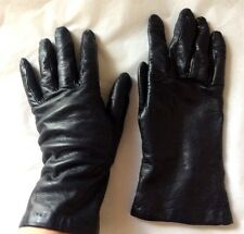 Talbots Leather Cashmere Lined Gloves Women's 6.5 Made in Italy