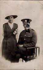 WW1 Soldier Suffolk Regiment & Wife on Wedding Day ?