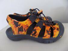 Keen Newport Boy Youth Waterproof Sandals Orange Black Fire Flames Size 2