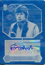 Doctor Who 2015 Printing Plate Autograph Frazer Hines (Cyan)