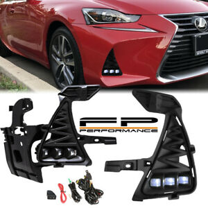 For 2017-2019 Lexus IS200T IS300 Non F Sport LED Fog light Wiring Complete Kit